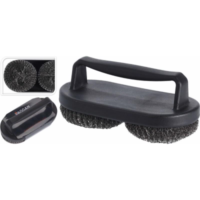 BARBECUE BRUSH WITH DOUBLE BRUSHES